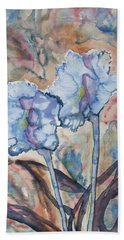 Watercolor - Orchid Impression Hand Towel