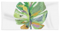 Watercolor Palm Leaf- Art By Linda Woods Hand Towel