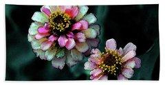Watercolor Pink Zinnias And Smoke 2227 W_2 Hand Towel