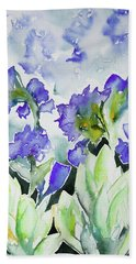 Watercolor - Rocky Mountain Wildflowers Hand Towel