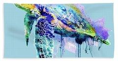 Watercolor Sea Turtle Hand Towel