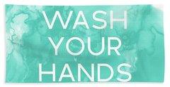 Watercolor Wash Your Hands- Art By Linda Woods Hand Towel