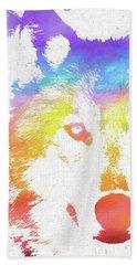 Watercolor Wolf Hand Towel