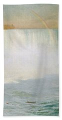 Waterfall And Rainbow At Niagara Falls Hand Towel
