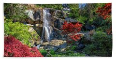Waterfall At Maymont Bath Towel by Rick Berk