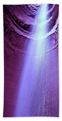 Waterfall At Ruby Falls Bath Towel by Debra Forand