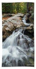 Waterfall At The Basin Hand Towel by Sharon Seaward