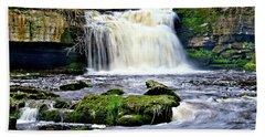 Waterfall At West Burton, Yorkshire Dales Bath Towel