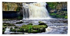Waterfall At West Burton, Yorkshire Dales Hand Towel