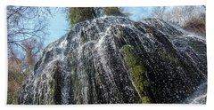 Waterfall From Below Hand Towel