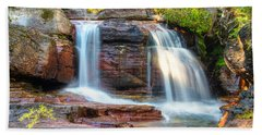 Waterfall Bath Towel by Gary Lengyel