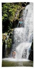 Waterfall In New Zealand Bath Towel