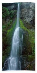 Waterfall In Olympic National Rainforest Hand Towel