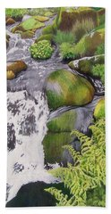 Waterfall On Skye Hand Towel