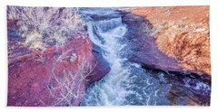 waterfalls at Colorado foothills aerial view Hand Towel