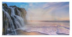 Waterfalls Into The Ocean Bath Towel