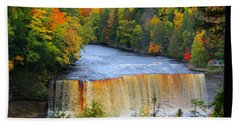 Waterfalls Of Michigan Bath Towel by Michael Rucker