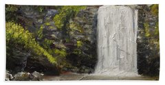 Waterfalls Of North Carolina Looking Glass Falls Hand Towel