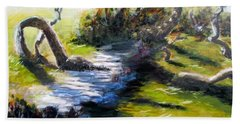Waterfront And T St In Eureka  Hand Towel