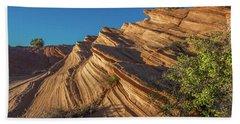 Waterhole Canyon Rock Formation Hand Towel