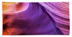 Waterhole Canyon Wave Bath Towel