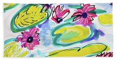 Waterlilies Bath Towel