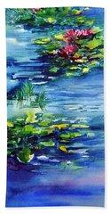 Waterlilies Bath Towel by Joanne Smoley