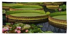 Waterlilies North And South Bath Towel