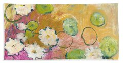 Waterlillies At Dusk Hand Towel