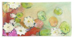 Waterlillies At Dusk No 2 Hand Towel