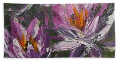 Waterlilly Hand Towel by Chris Hobel