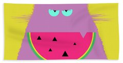 Watermelon Lilac Cat Bath Towel