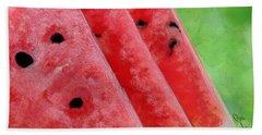 Watermelon Slices Hand Towel