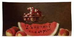 Watermelon Still Life Bath Towel