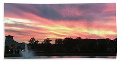 Waters Aflame Bath Towel