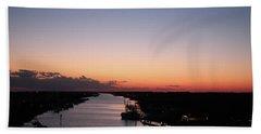 Waterway Sunset #1 Hand Towel