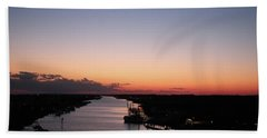 Waterway Sunset #1 Bath Towel
