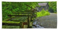 Bath Towel featuring the photograph Waterworks Mingus Mill Mingus Creek Art  Great Smoky Mountains Art by Reid Callaway