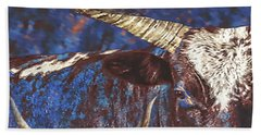 Hand Towel featuring the photograph Watusi Blues by Amanda Smith