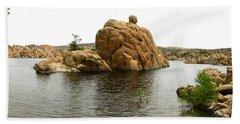 Watson Lake Balancing Rock Bath Towel