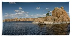 Watson Lake Panorama Bath Towel