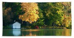 Waupaca Chain Boathouse Hand Towel by Trey Foerster