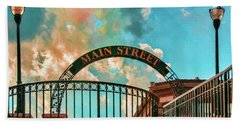 Hand Towel featuring the photograph Waupaca Main Street by Trey Foerster