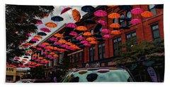Wausau's Downtown Umbrellas Bath Towel