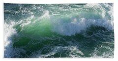 Wave At Montana De Oro Bath Towel
