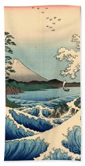 Wave At Satta Point Hand Towel