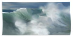 Wave Breakers Hand Towel by Anthony Fishburne
