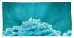 Bath Towel featuring the painting Wave Cloud - Sky And Clouds Collection by Anastasiya Malakhova