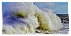 Moody Surf Hand Towel by Michael Cinnamond