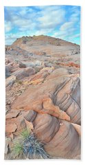 Wave Of Sandstone In Valley Of Fire Bath Towel by Ray Mathis